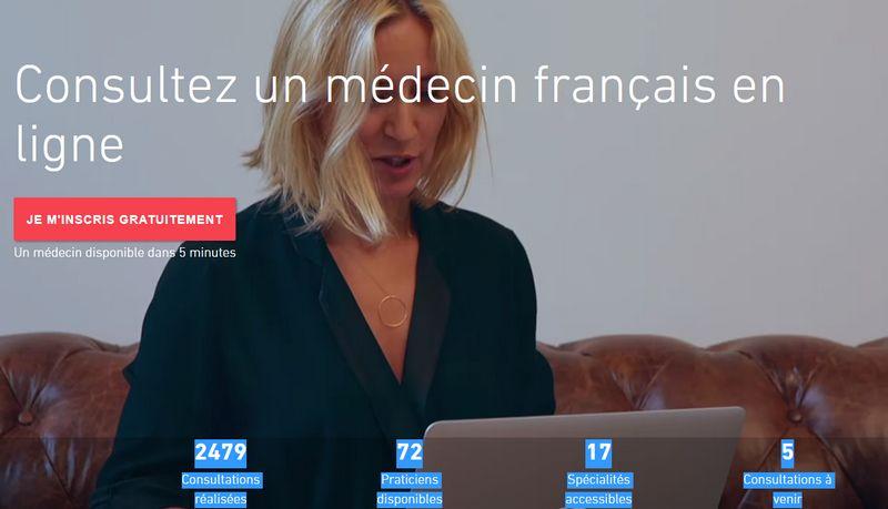 video consultation avec un médecin français