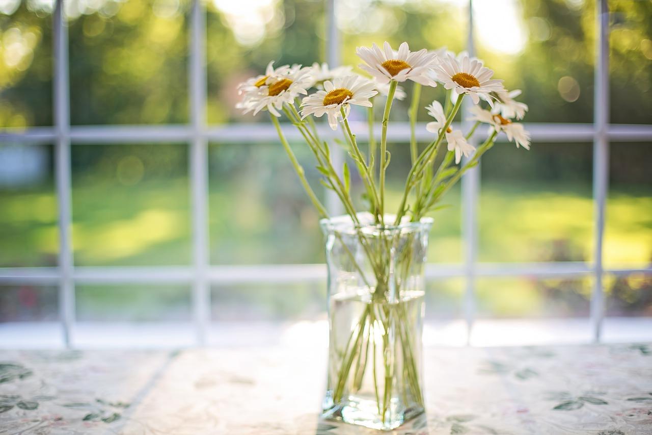des fleurs à la maison